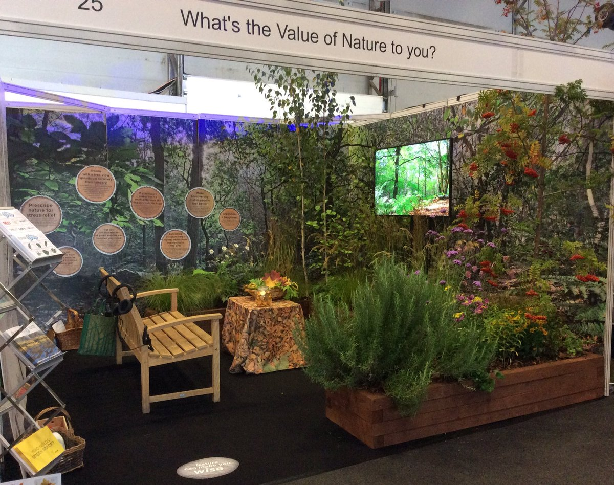 Valuing Nature stand at Into the Blue